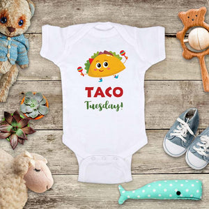 Taco Tuesday cute cute Mexican food baby onesie bodysuit kids Infant Toddler Shirt baby shower gift