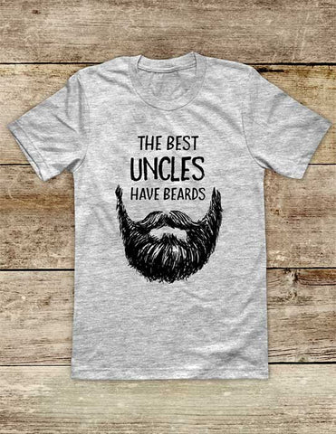 The Best Uncles Have Beards - funny Soft Unisex Men or Women Short Sleeve Jersey Tee Shirt