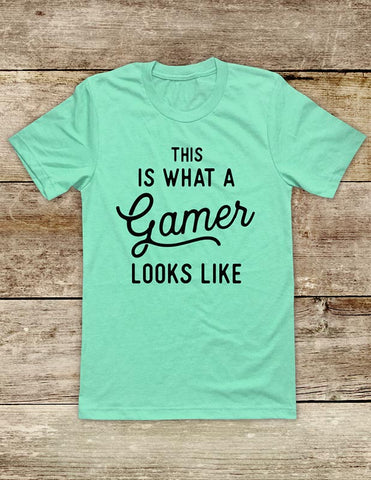 This Is What A Gamer Looks Like - funny Video Game Soft Unisex Men or Women Short Sleeve Jersey Tee Shirt