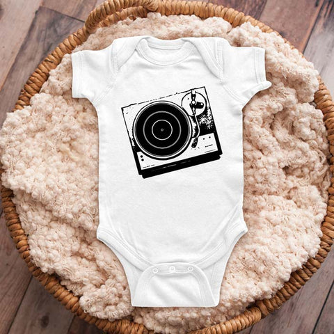 Turntable DJ retro music graphic baby onesie shirt Infant, Toddler & Youth Shirt