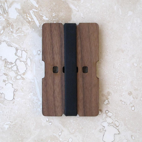 Walnut or Cherry Wood Wallet 2-Piece Slim Credit Card and/or Business Card Holder, Minimalist wallet boyfriend husband gift