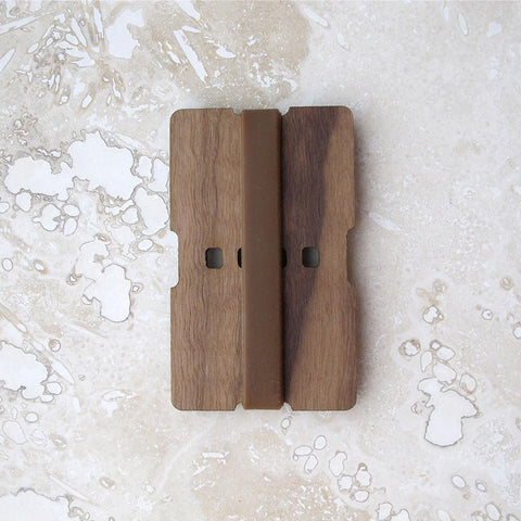 Walnut or Cherry Wood Wallet 1-Piece Credit Card and/or Business Card Holder, Minimalist wallet boyfriend husband gift