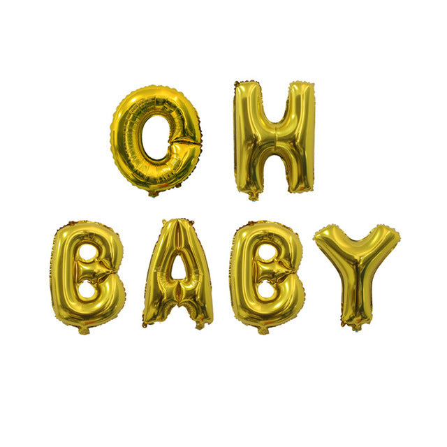 Pre-order Oh Baby Balloons gold/silver