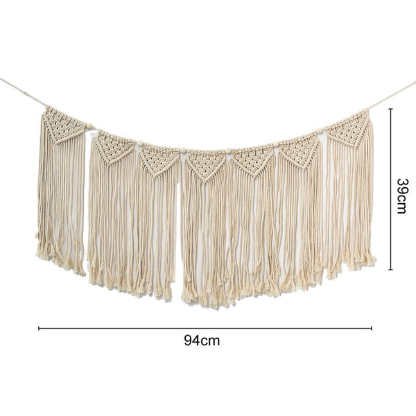 Pre-order Handcrafted Macrame Hanging Bunting