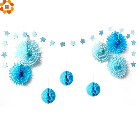 PRE-ORDER 9 Piece Paper Garland Party Set (Blue or Pink)
