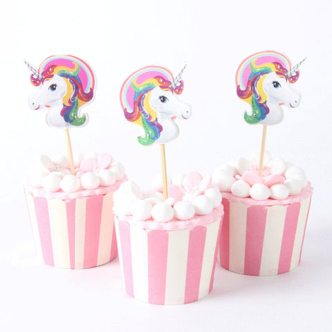 PRE-ORDER 24 piece Unicorn Cupcake Toppers