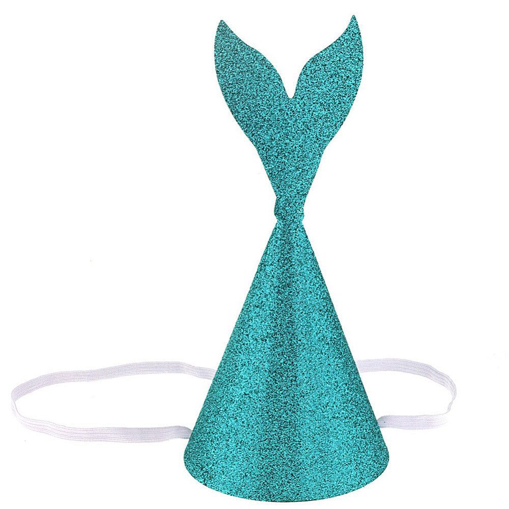 PRE-ORDER 6 piece Glitter Mermaid Party Hats