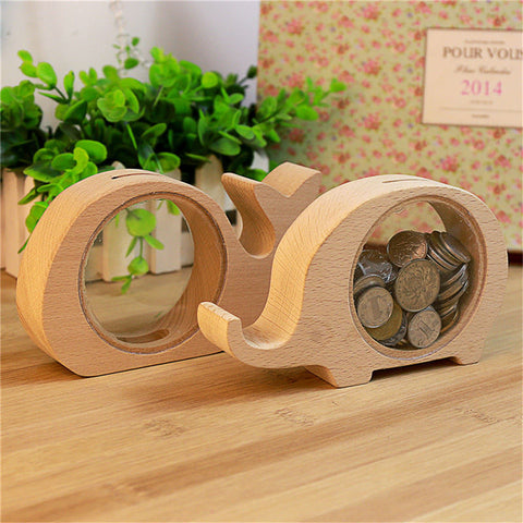 Pre-order Wooden Animal Money Box
