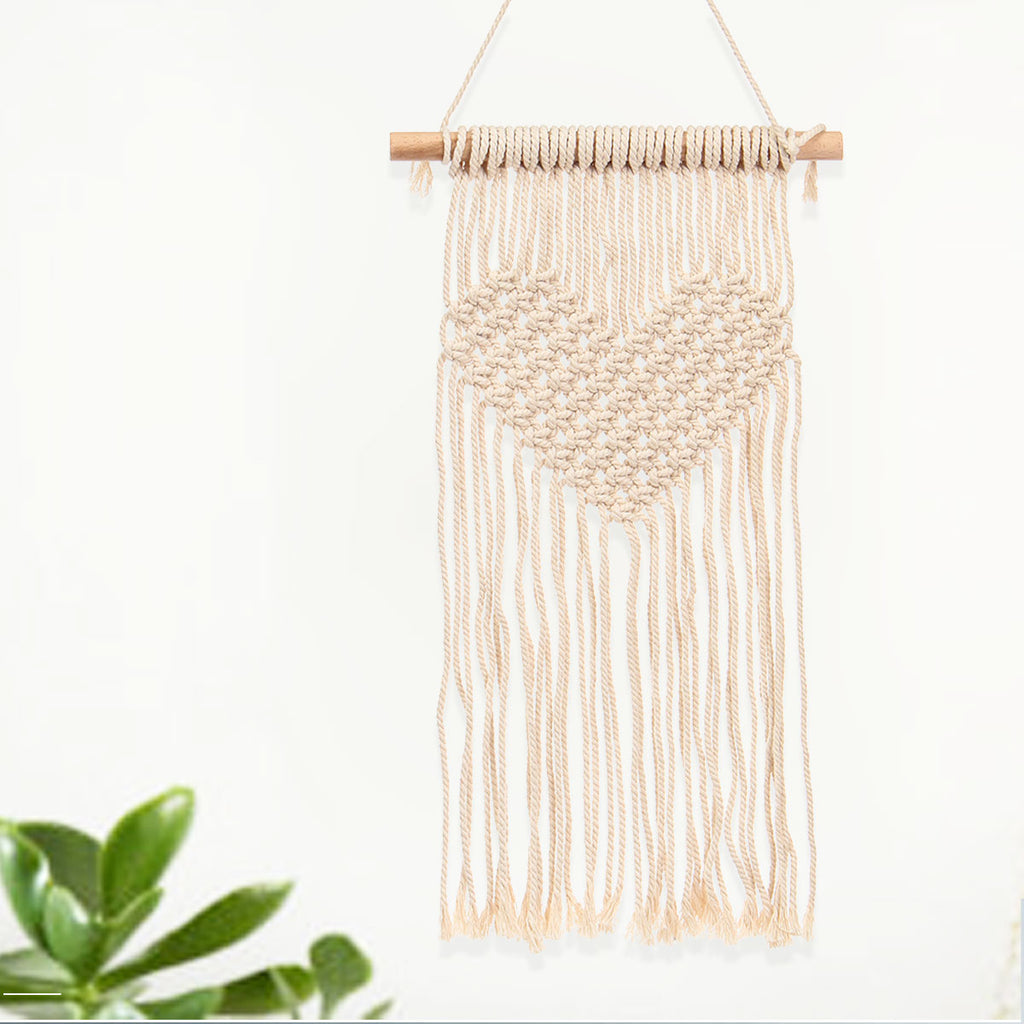 pre-order 74cm Heart Macrame Wall Hanging