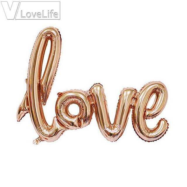 Pre-order Rose Gold Love Balloons