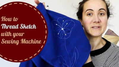 How to thread sketch with your sewing machine