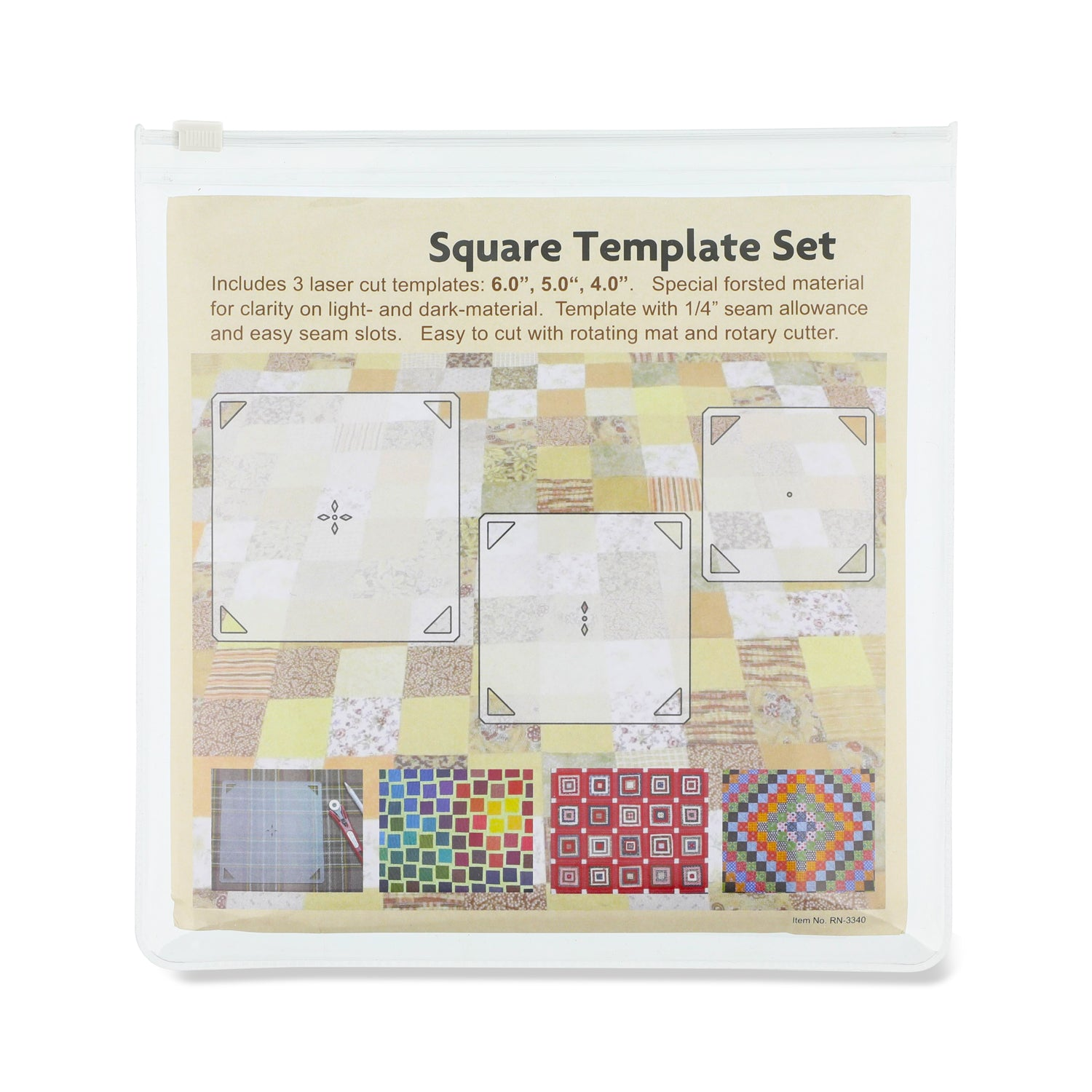 "3PCS Patchwork Square Template Set 4""/ 5""/ 6"""