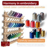 Machine Embroidery Thread Set - 40 spools, 100% polyester