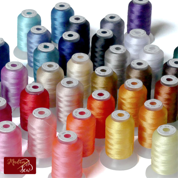 Machine Embroidery Thread - 40 spools of 500 yards