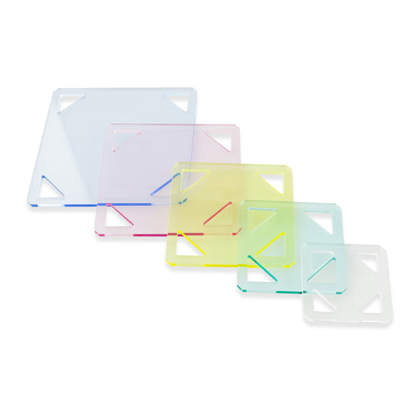 5PCS Patchwork Square Template Set 1 1/2