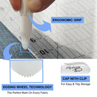 Chalk Marker with Dosing Wheel Technology