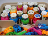 Bobbin Clamps 16 PCS - keep bobbins from unwinding and still see the thread color