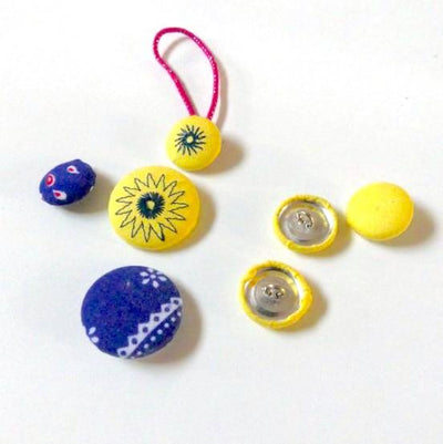 15PCS Fabric Cover Buttons - 30L or 44L