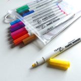 Permanent Fabric Markers - 12 PCS