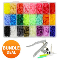 360PCS Colorful Snaps + Pliers - Bundle Deal - Bring Color and Fun to your projects!