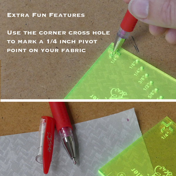 Seam Guide Ruler + FREE Magnetic Seam Guide