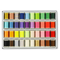 40 Colors Machine Embroidery Thread - 300 Yard/spool
