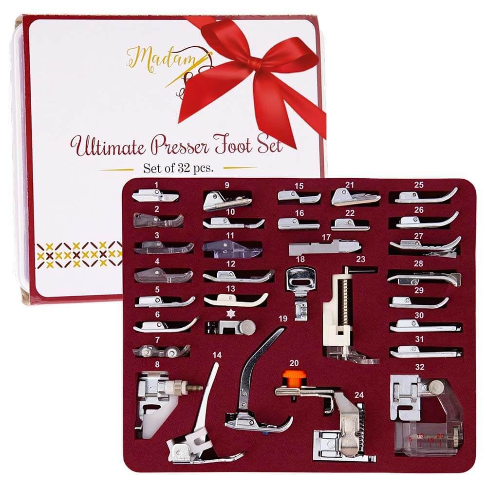 Madamsew Ultimate Presser Foot Set 32pcs