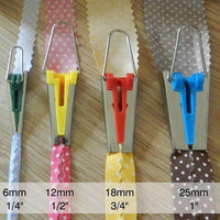 "Easy Bias Tape Makers - 4 sizes: 1/4"" , 1/2"", 3/4"" and 1"""