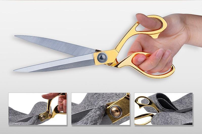"9.5"" Gold Handle Stainless Steel Shears"