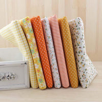 Fat Quarter Bundle - Yellow & Orange - 7 pcs