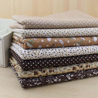 Fat Quarter Bundle - Brown - 7 pcs