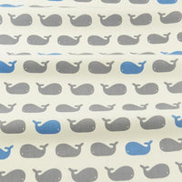 Little Blue & Grey Whales - by the 1/2 yd