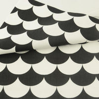 Black and White Shell Tiles - by the 1/2 yrd