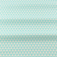 Turquoise Little Triangles - by the 1/2 yd