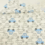 Blue and White Cars - by the 1/2 yrd