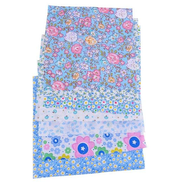 "Blue Flower Fantasy - 7 pcs 10"" x 10"""