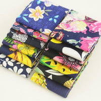 "Black n Blue Flowered Jelly Roll Bundle - 12 pcs 2""x 20"""