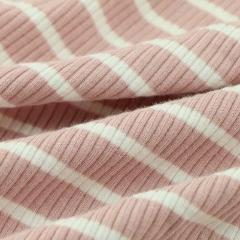 Pink Striped Knitted Rib - by 1/2 yrd