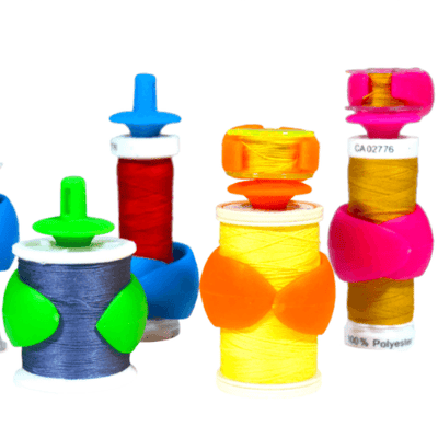 Bundle of Spool & Bobbin Organizers: 16 Spool Huggers, 16 Bobbin Holders and 16 Bobbin Clamps