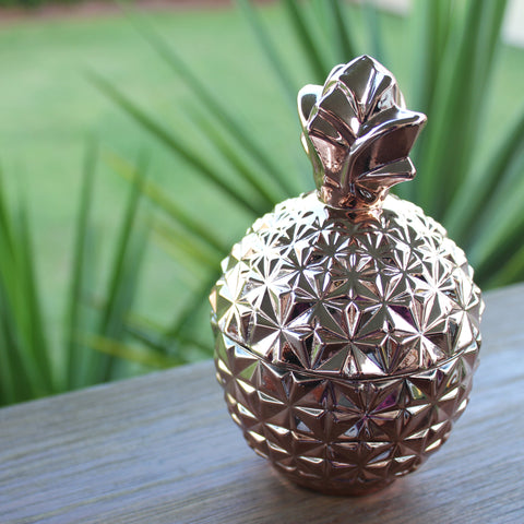 Rose Gold Pineapple Soy Candle