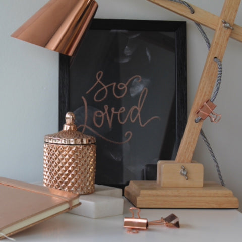 Rose Gold Geo Soy Candle