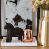 Rose Gold Stemless Soy Candle