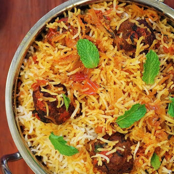 Mutton Meatball Biryani