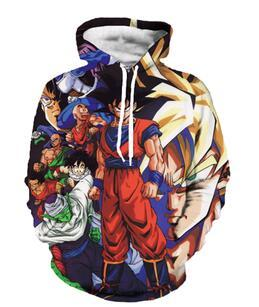 Classic Anime Dragon Ball Z Strong Goku Vegeta Hooded Sweatshirts Unisex Loose Hoodies 3d Pullovers