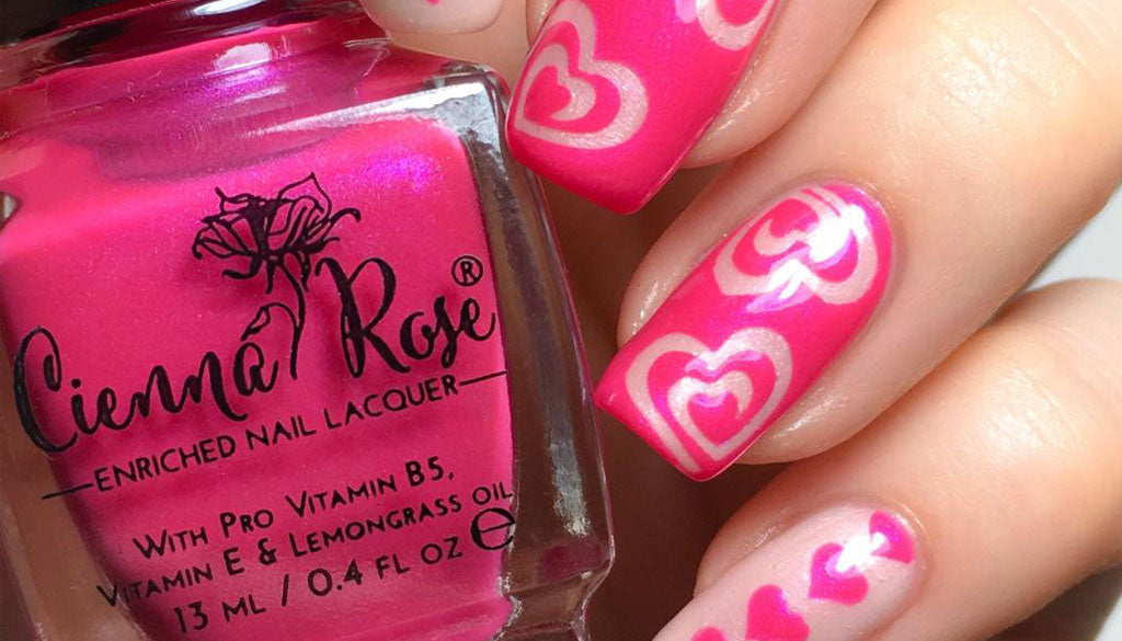 Heart Nail Art – Cienna Rose