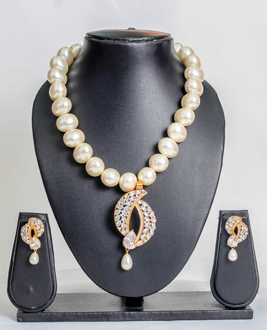 Stoned beads set in off white - tmpfashion