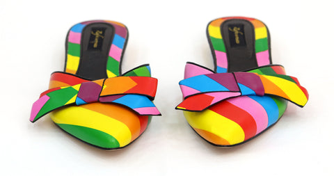 Zafa woman multi coloured cover slippers - tmpfashion