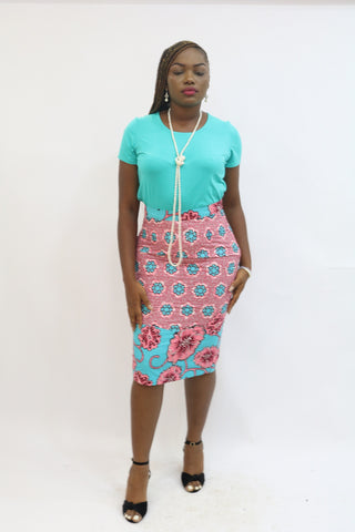 YINKA fitted midi skirt - 1119