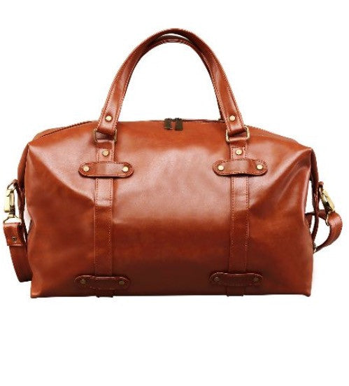 Tan Travel Faux Leather Vegan Bag