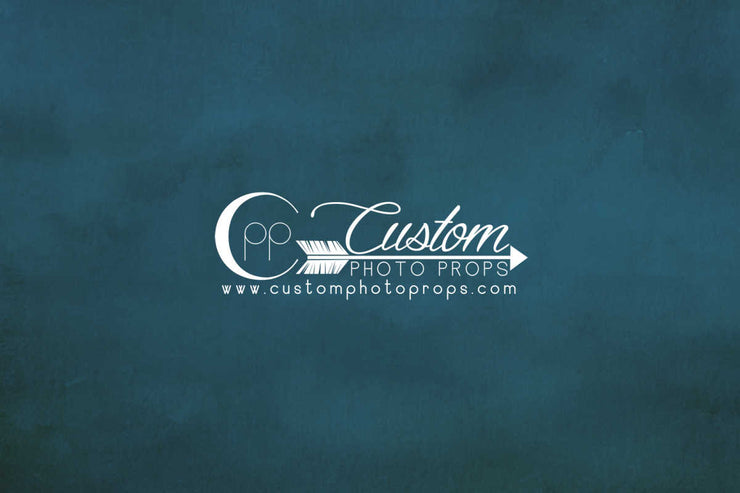 teal blue photo backdrop by cpp drops